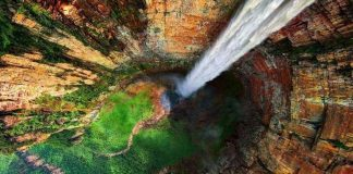 above angel falls venezuela