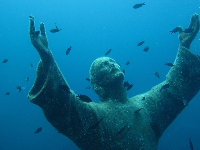 christ of the abyss italy