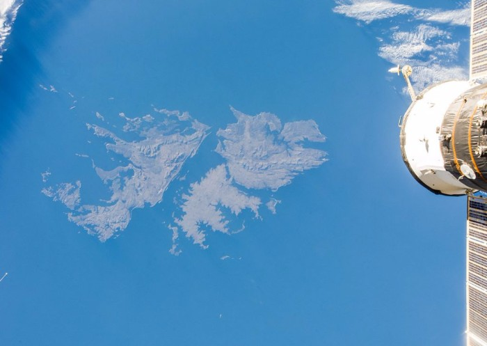 falklands islands from the space station international