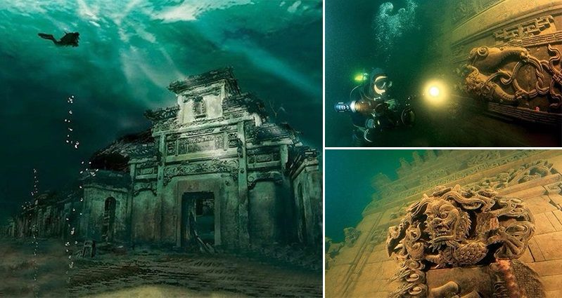shi cheng underwater city china