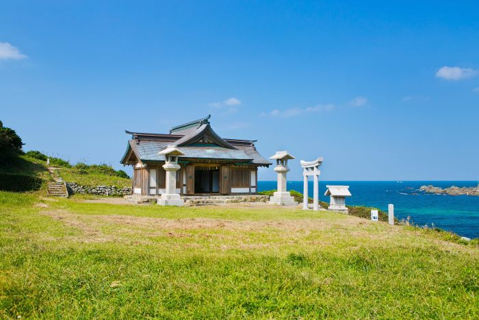 shrine building of okitsu okinoshima island