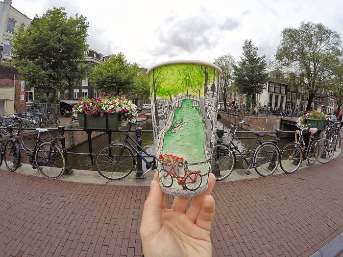 amsterdam painting paper glasses