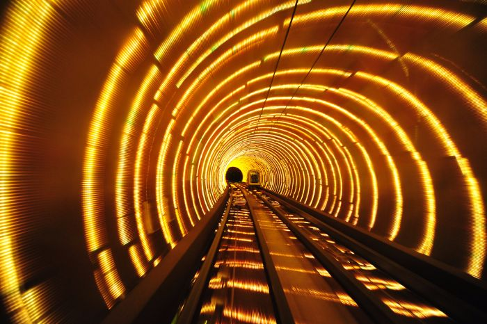 bund sightseeing tunnel shanghai