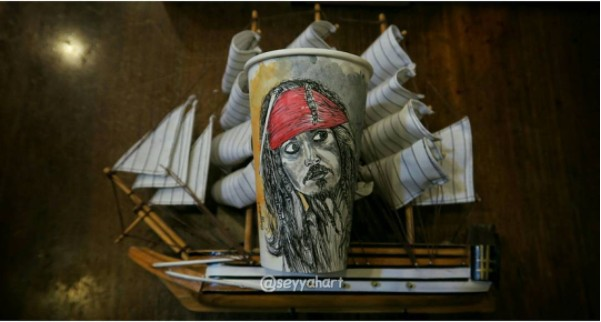 jack sparrow painting paper glasses