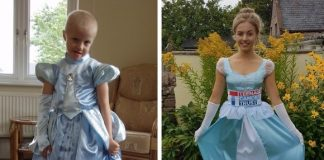 katy cancer survivor dressed cinderella