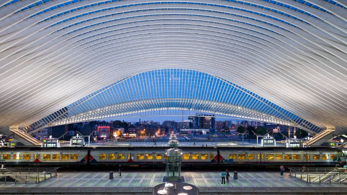 liege guillemins train station belgium
