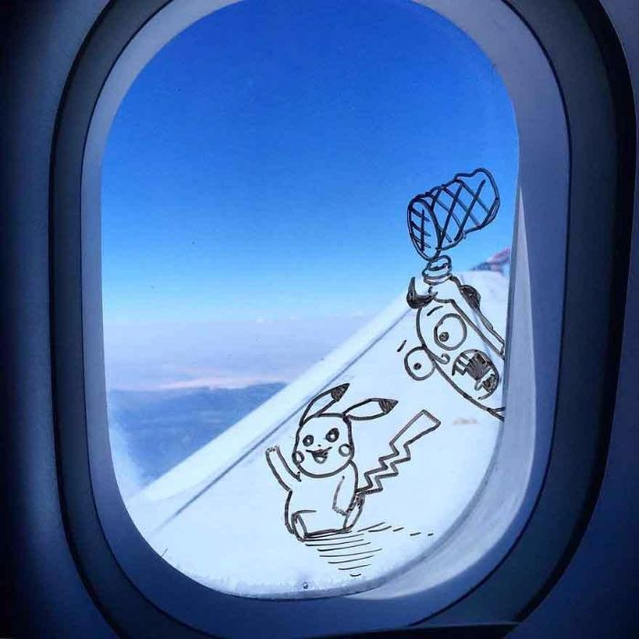 picacku drawing plane window