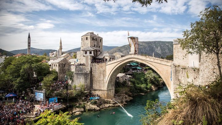 red bull cliff diving mostar 2017