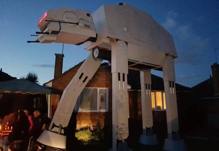 replica star wars at-at walker garden