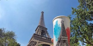 tour eiffel painting paper glasses