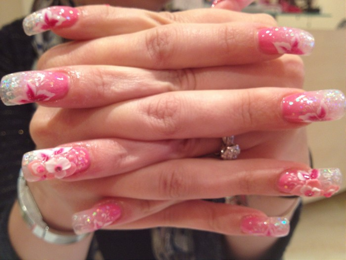 wedding 3d nail art