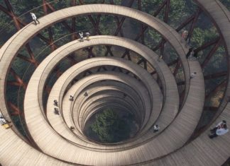 circular walkway tower denmark