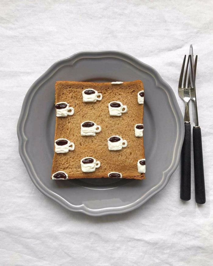 cup of coffee toast art