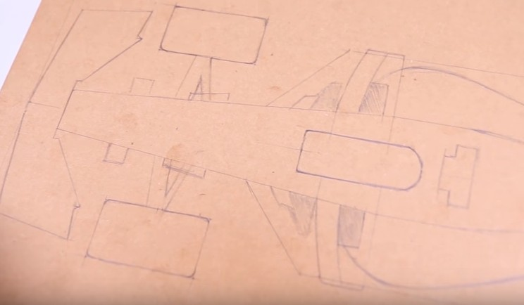 drawing ferrari f1 cardboard toy diy