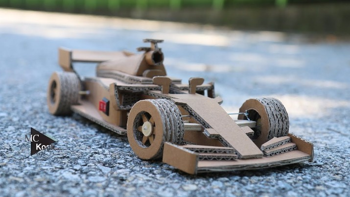 How To Make A Stunning Rc Ferrari F1 Racing Car Toy With A Cardboard
