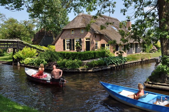 giethoorn cities whithout car