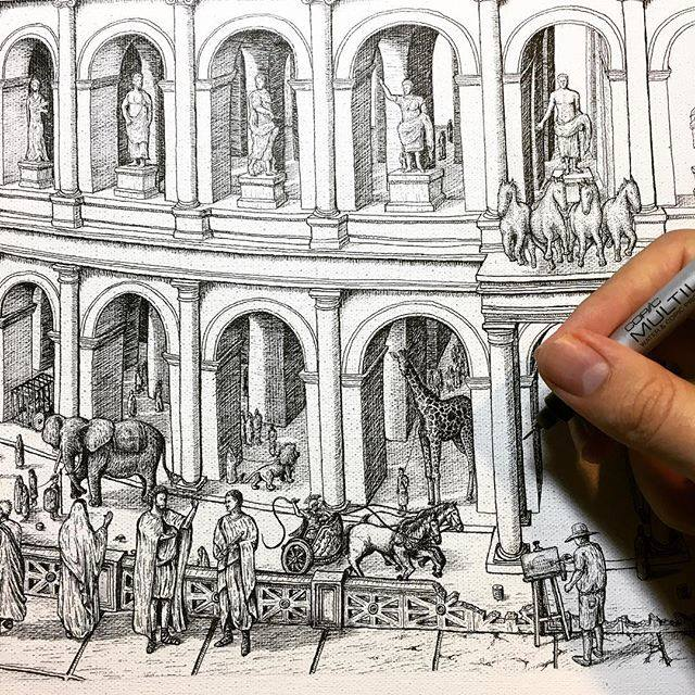 jeff murray drawings ancient rome