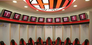 milan football soccer locker rooms