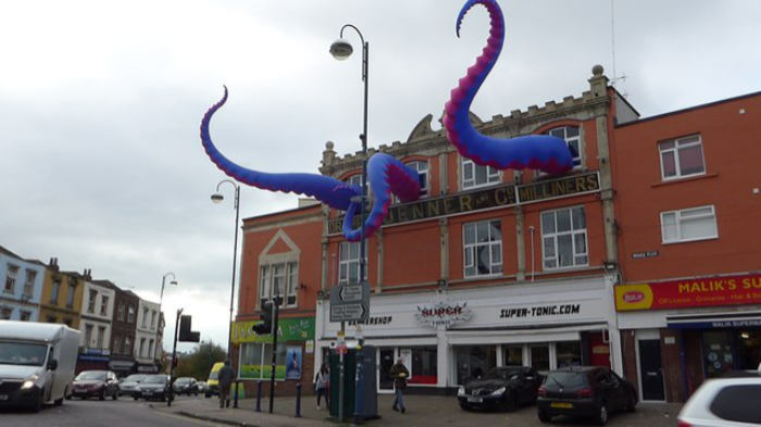 monster tentacles street art