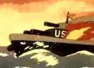 north korea cartoon against us navy