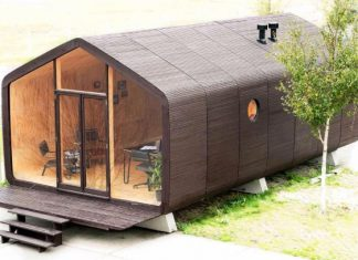 wikkelhouse recyclable cardboard house