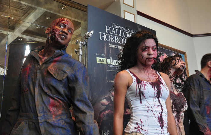 zombie man and girl