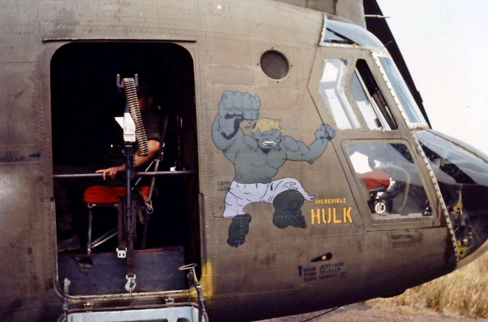 incredible hulk vietnam war decorated helicopters