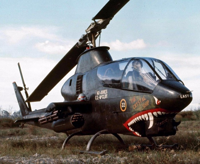 shark mouth vietnam war decorated helicopters